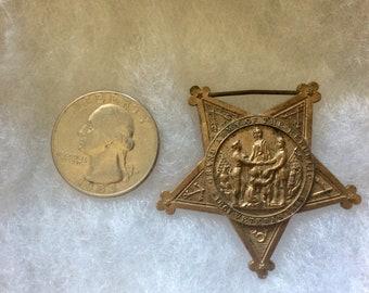 Militaria-Civil War-Union Civil War Grand Army of the Republic G.A.R. Membership Badge Star Only-Civil War Relics-Civil War Exonumia-Medal