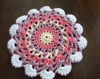 Crochet Blossom Hot Pad
