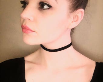 "Thin Black Choker (3/8"")"