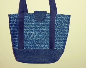 Hearts And Denim Totebag or Purse