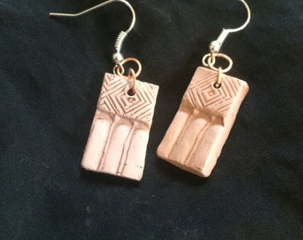 Simplicity Earrings: Handcrafted Terra Cotta Aromatherapy Diffuser Earrings