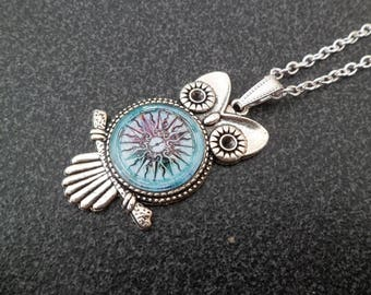 """Necklace """"OWL and the compass rose."""
