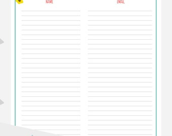 printable email list signup form