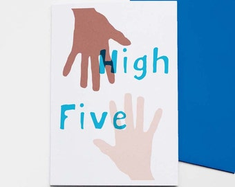 High Five - greetings card