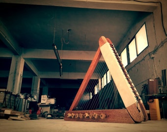 The Lethe Harp - The Ancient Greek Harp of Oblivion - Epigonion (Psaltery) - 22string Harp - Top Quality HandCrafted Instrument