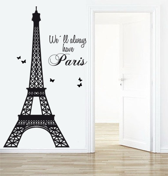 Eiffel Tower Decal Paris Decals Livingroom Wall Decal