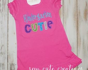 Back to school dress, Kindergarten Cutie dress, Preschool, First Grade, First day of school Dress, School outfit, sew cute creations