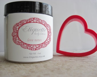Love Notes body lotion 4 oz jar