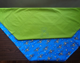 Vivid Blue and Green Baby Blanket