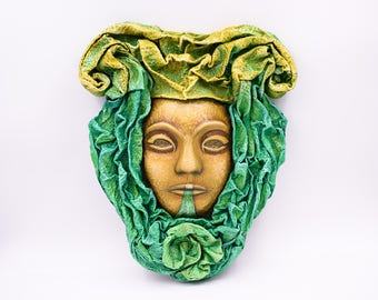 "Handmade paper mask to hang ""The Earth"" 