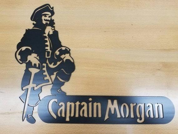 Captain Morgan metal wall art plasma cut decor from GasProShopFab on ...