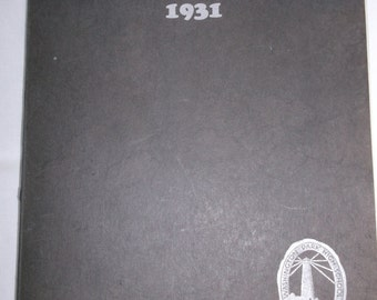 Racine Wisconsin High School Yearbook Kipikawi 1931