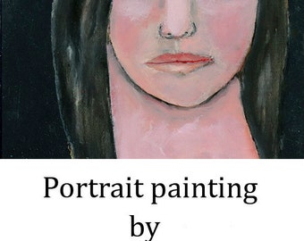 Woman Oil Portrait Painting. Original Small Art. Apartment Wall Art Decor. Side Eye Portrait. Home Wall Art Decor