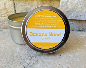 SALE! Banana Stand Scented Soy Candle- 4oz Arrested Development Candle