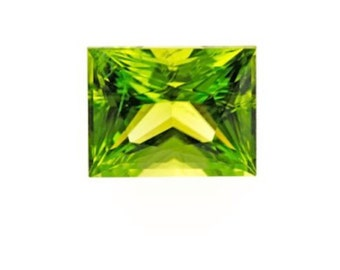 Natural Genuine Peridot AAA Baguette Faceted Shape Loose Stone (4x2mm - 7x5mm)