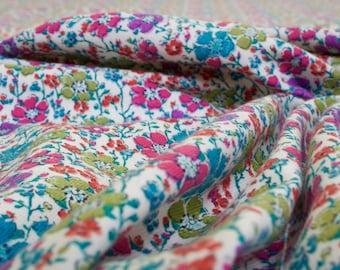 Liberty Lantana Wool / Cotton Mix Dressmaking Fabric with 'Clarisse' Floral Print