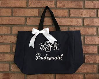 Bridesmaid Tote Bags , Bachelorette Party Tote Bags , Zipper Tote Bags , Bridal Party Gift Bags, Wholesale Tote Bags , Tote Bags Cheap