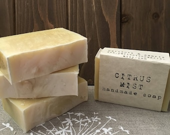 Citrus Mist Cold Processed Handmade Soap