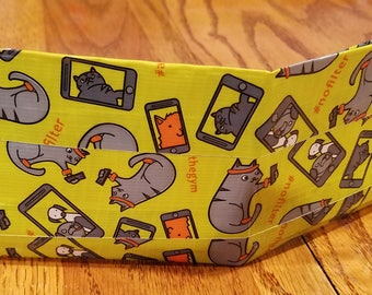 At the gym cat duct tape wallet