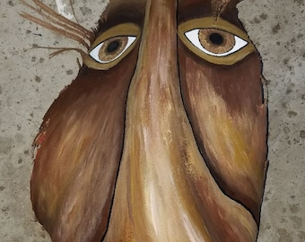 Palm Frond Face