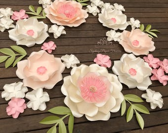 SPRING is in the AIR paper flower backdrop/Paper flower wall/Wedding Backdrop/Backdrop /Baby shower/Sweet table/Christening /Dessert table