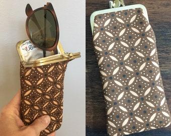 Vintage 1970s Brown Sunglasses/Glasses Case