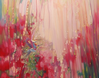 Print on Canvas - Gems of the Pink Jungle