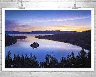 Lake Tahoe Art, Tahoe Landscape Photograph, Emerald Bay Picture, Sierra Nevada Art, Lake Tahoe Picture, Sierra Mountains Picture, Tahoe Gift
