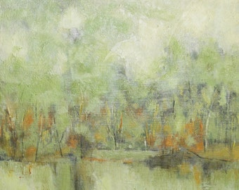 Fall Forest MCM Oil Painting