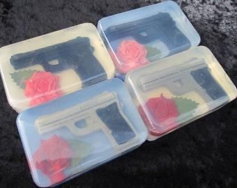 Gun and Rose Soap