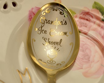 Grandpa, Ice Cream spoon, gift for Dad, Gift from Wife, gift from daughter, gift from grandson, gift from the granddaughter, gift for him