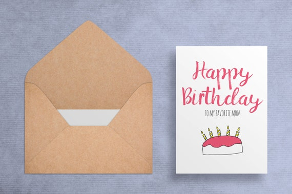 Printable birthday card for mom happy birthday to my bookmarktalkfo Gallery