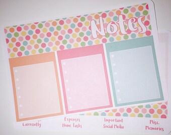Note Page Sticker Kit