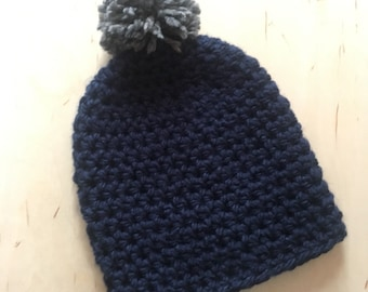 Slouch Hat with PomPom, Slouchy Hat, Slouch Hat, Slouchy Beanie, Chunky Winter Hat, Chunky Knit Hat, Chunky Slouchy Hat