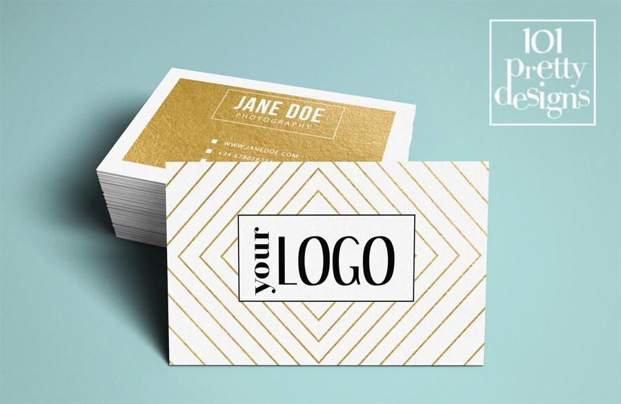 Golden business card template elegant business card design