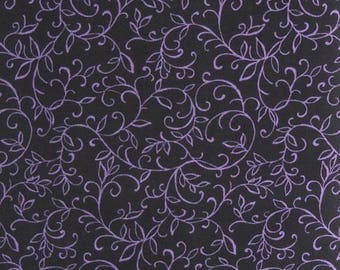 Petals and Paisley Quilt Fabric by Quilt Country Inc., for Moda Fabrics, 100 Percent Cotton, Fabric by the Yard Black Quilting Fabric