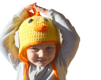 Toddler Chicken Hat, Boys Farm Animal Hat, Girls Spring Hat, Baby Chicken Animal Hat, Newborn Photo Prop, Infant Winter Hat, Farm Animal Hat