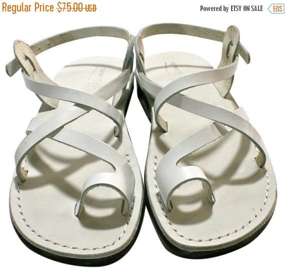 Leather Flop Sandals White Sandals Leather White Sandals Flip amp; Jesus Sandals Sandals Women Unisex Men For Genuine Roxy Handmade wUCwxPqrT