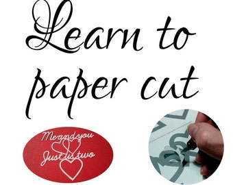 DIY paper cutting kit download for COMPLETE novices, paper cutting guide, download PDF guide,paper cutting, paper cut template