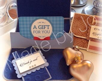 Pop Up Gift card Holder. Digital cutting file.