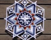 Snowbound, an 18-inch, 12-sided Mandala by Elizabeth Tingley