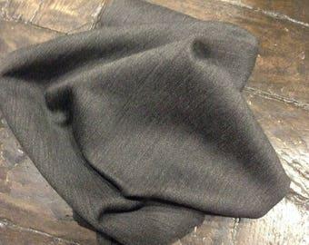 Plain charcoal grey wool coupon