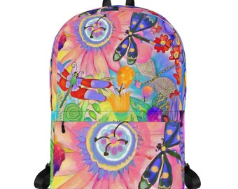 Colorful Dragonflies Backpack