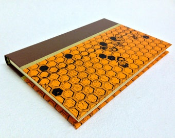 Handmade Journal with Honeycomb Pattern