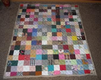 50% Deposit - Throw Quilt - Scrappy Patchwork Quilt - Throw Size Quilt - DEPOSIT ONLY