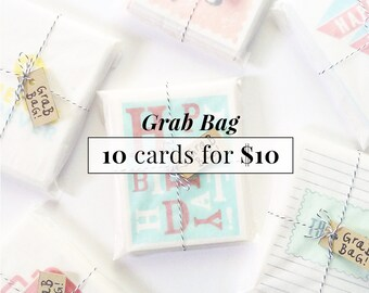 Grab Bag Sale / Sample Sale / 10 Cards for 10 Bucks