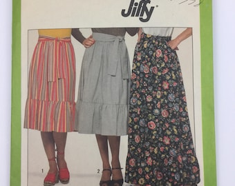 Simplicity Pattern 8304 Jiffy Skirt in Two Lengths MISSING RUFFLE and SASH incomplete