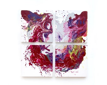 Marble Abstract Wall Art. Acrylic Painting, Oil Painting. Purple Abstract Painting. Fluid Art, Original Artwork. Art on Canvas. Contemporary