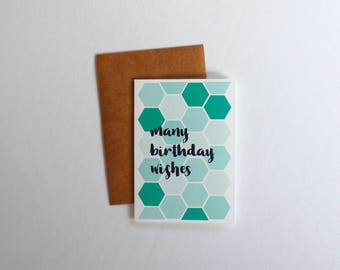 Many Birthday Wishes Greeting Card