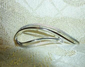 Brooch Silver Tone Design Multi-Angles Unique Vintage Brooch